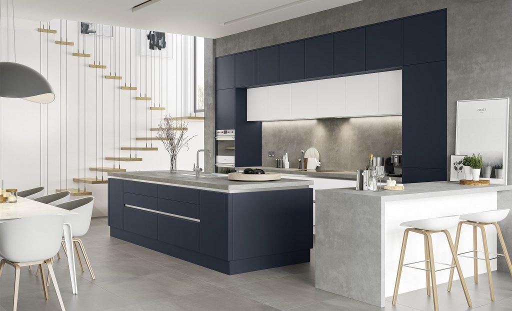 Zola Matte Kitchen, Modern Kitchens - Feeney Interiors